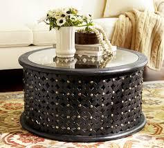round black coffee table. Vintage Black Round Wood Coffee Table
