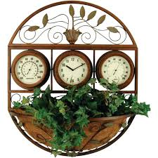 outdoor clocks large for decorative and thermometers 24 inch
