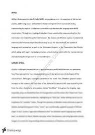 othello comparative essay advanced english year hsc essay on othello