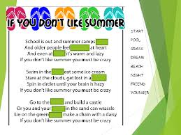 summer activities worksheets and creative lesson ideas summer poem