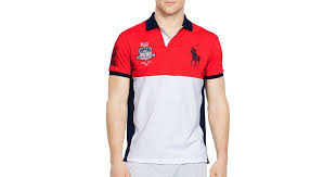 lyst ralph lauren polo sport usa performance mesh polo shirt in red for men