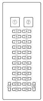 mazda mpv 2000 2001 fuse box diagram auto genius mazda mpv 2000 2001 fuse box diagram