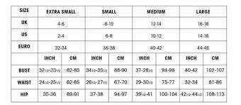 Size Chart Uk Size Chart Spoilt Belle Boutique