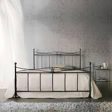 Vintage tubular and wrought iron bed Alex by Cosatto