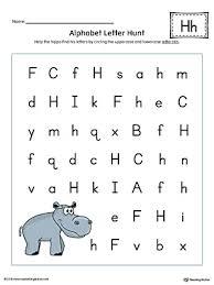 Alphabet Letter Hunt Letter H Worksheet Color