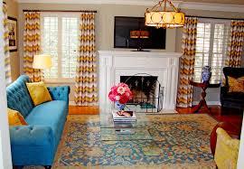 blue sofas living room: peacock blue sofa living room eclectic with aqua pillow blue sofa