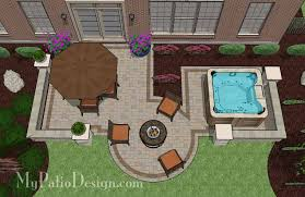 patio ideas with hot tub. Delighful Ideas With 445 Sq Ft Our Hot Tub Patio Design With Seat Walls Lavishes Itu0027s  Guests Dining Outdoors A Warm Fire Pit Andor Relaxing Dip In The Hot Tub For Ideas S