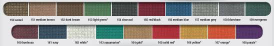 waterhog eco mats are available in 8 colors both waterhog classic mats and waterhog eco mats are available with either rubber or fabric borders and with