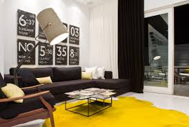 great yellow contemporary rug