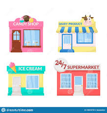 Market Storefront Ice Cream Dairy Product Candy Shop