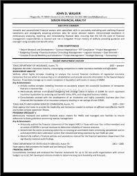 Analyst Resume Sample Alexa Resume Financial Analyst Resume Sample