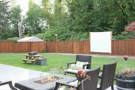 Backyard Movie Screen Diy  Home Outdoor DecorationMovie Backyard