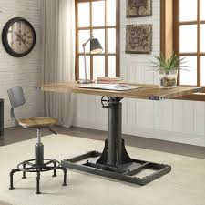 furniture industrial style. Furniture Of America Malone Industrial Style 58-inch Height Adjustable Desk  With Outlets Furniture Industrial Style F
