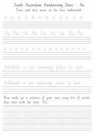 Hand Writing Sheets South Australian Handwriting Sheets Aa To Zz