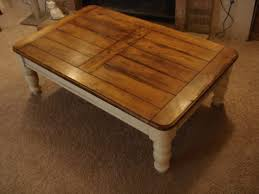 distressed coffee table square white wooden melb