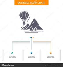 Travel Flow Chart Explore Travel Mountains Camping Balloons Business Flow