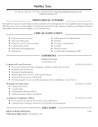 Sample Resume For Loan Processor Sidemcicek Com