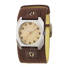 nixon men s the scout leather watch