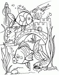 Tropical Fish Coloring Pages Printable Ocean Page Realistic For