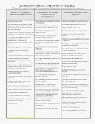 Employee Performance Evaluation Template New Performance Review ...