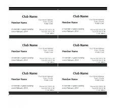 warranty template word warranty card template word membership card template word club form