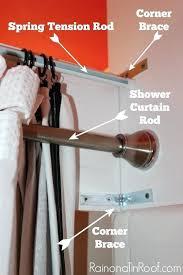 amusing diy shower curtain rod decorative shower curtain rods diy curved shower curtain rod