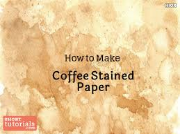 You can use it to make drawings on tea/coffee stained paper. How To Coffee Stain Paper