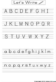 alphabet practice paper alphabet writing practice sheet learning activities pinterest