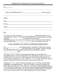 Cease And Desist Letter Templates Free Template Lab Copyright
