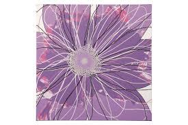 berdina wall art in lavender by ashley from gardner white furniture