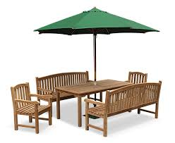 sandringham teak benches table and