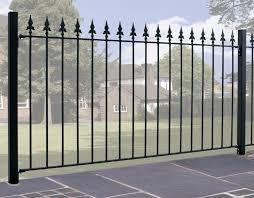 saxon metal garden fencing panel