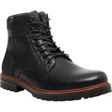 Steve Madden Mens M Mansol Lace Up Combat Boots With Side