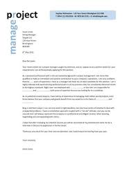 Project Manager Cover Letter Jvwithmenow Com
