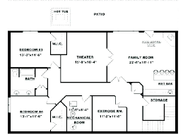 basement floor plans. Fine Floor Finished Basement Floor Plans Square Home New Lovely With Plan Design Trend  On H