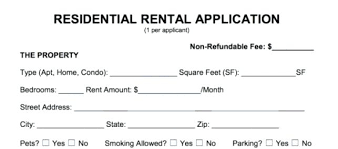 Rent Application Form Doc Grand Residential Rental Present Addition ...