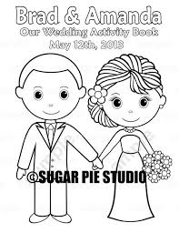 Printable Personalized Wedding Coloring Activity Book Favor Kids 85