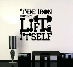 sports quotes wall decals gym wall decal gym motivation quote iron sport fitness art large gym  on motivational wall art for gym with sports quotes wall decals gym wall decal gym motivation quote iron