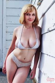 Curvy busty blonde hidden