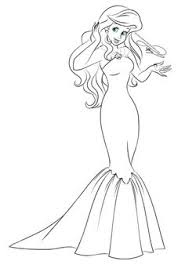 Small Picture Princess Ariel With New Dress Coloring Pages Adult and