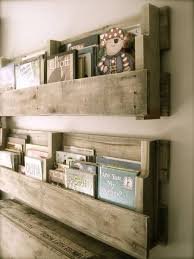 wooden baby nursery rustic furniture ideas. Baby Rooms, Diy Palette Shelves For Rustic Nursery Vintage Room Model Bookshelf Wood Material Classic Modeled Design Good Vibes Foor Room: Western Old Style Wooden Furniture Ideas D