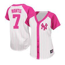 Mlb pink Mantle Fashion 7 - New Women's White Jersey Yankees York Majestic Authentic Splash Mickey bcaecffbecfc|The Jewel Box Jewelers