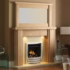 GB Mantels Coatbridge Oak Fireplace Suite