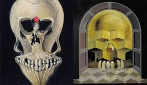 ballerina skull and skull of zurbaran paintings by dali