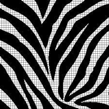 Zebra Print Chart Graph And Row By Row Written Crochet Instructions 02