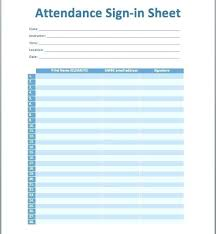 Meeting Attendance Form Sign In Roster Template Word Free
