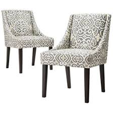 dining chairs griffin cutback dining chair grey citron set of