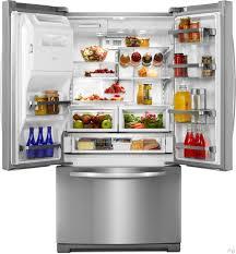 Kitchen Aid French Door 268cu Kitchenaid French Door Trio Refrigerator Stainless