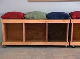 storage bench plans. Wonderful Bench How To Build A Rolling Storage Bench With Plans H