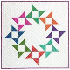 78 best Quilts: Friendship Stars images on Pinterest | Fashion ... & Friendship Wreath Mini Quilt - free tutorial! Adamdwight.com